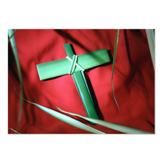 Cruzes e cenas de domingo da páscoa e de palma convite 12.7 x 17.78cm