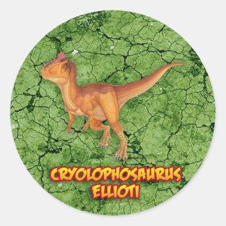 Cryolophosaurus Adesivo Redondo