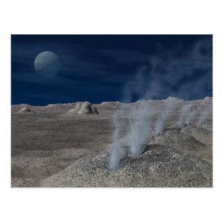 Cryovolcanism em Pluto Cartão Postal