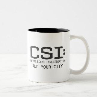 CSI/adiciona sua cidade Caneca De Café Em Dois Tons