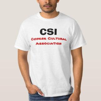CSI, associação cultural chinesa Camiseta