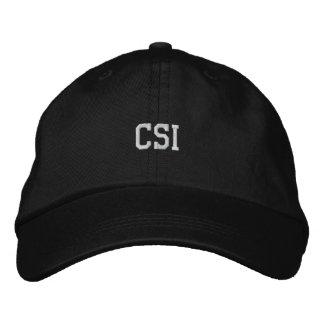 CSI bordou o chapéu Boné