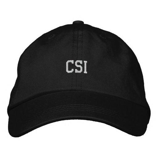 CSI bordou o chapéu Bonés Bordados