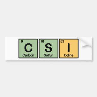 CSI fez dos elementos Adesivo Para Carro