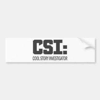 CSI Investigador legal da história Adesivo
