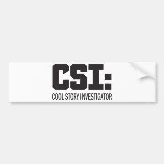 CSI Investigador legal da história Adesivos