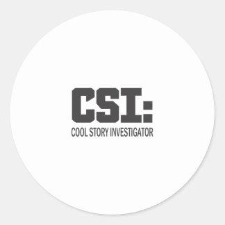 CSI: Investigador legal da história Adesivo Redondo