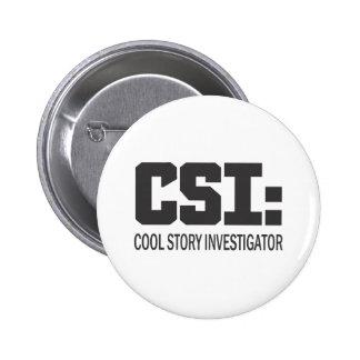 CSI: Investigador legal da história Bóton Redondo 5.08cm