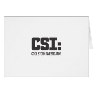 CSI: Investigador legal da história Cartões