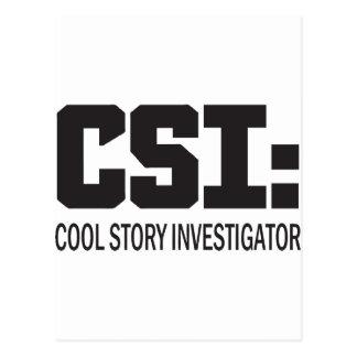CSI: Investigador legal da história Cartão Postal
