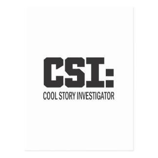 CSI: Investigador legal da história Cartões Postais