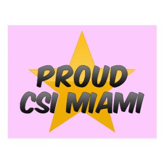 Csi orgulhoso Miami Cartão Postal
