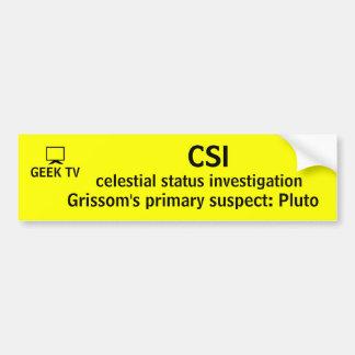CSI - um autocolante no vidro traseiro da tevê do  Adesivo Para Carro