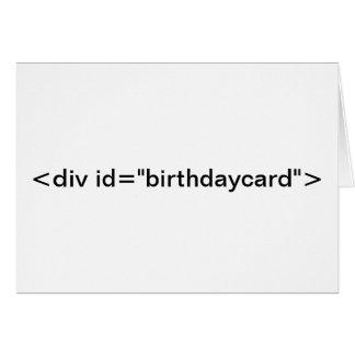 """CSS <div id=""""birthdaycard""""> Cartão de aniversário"""
