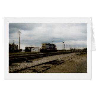CSX Railroad o motor Toledo da jarda de Dieesel, Cartão
