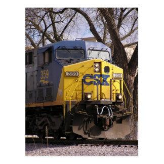 CSX treina Cartão Postal