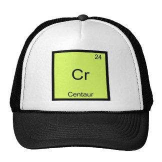 Ct - T engraçado do símbolo do elemento da química Bonés