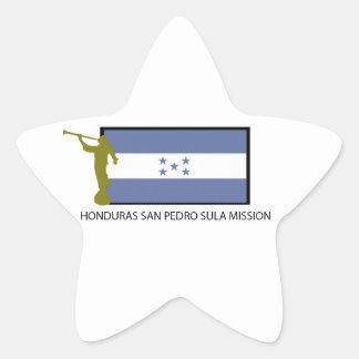 CTR DA MISSÃO LDS DE HONDURAS SAN PEDRO SULA ADESIVO EM FORMA DE ESTRELA