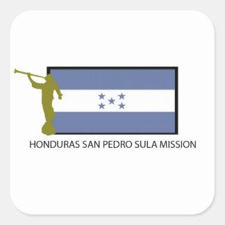 CTR DA MISSÃO LDS DE HONDURAS SAN PEDRO SULA ADESIVO QUADRADO