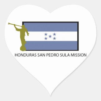 CTR DA MISSÃO LDS DE HONDURAS SAN PEDRO SULA ADESIVO CORAÇÃO