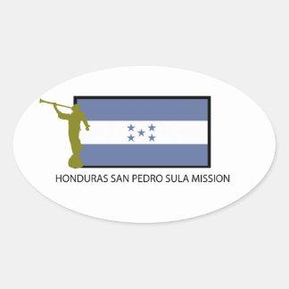 CTR DA MISSÃO LDS DE HONDURAS SAN PEDRO SULA ADESIVOS EM FORMATO OVAL