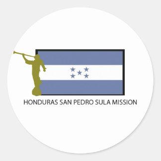 CTR DA MISSÃO LDS DE HONDURAS SAN PEDRO SULA ADESIVOS EM FORMATO REDONDOS