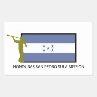 CTR DA MISSÃO LDS DE HONDURAS SAN PEDRO SULA ADESIVO RETANGULAR