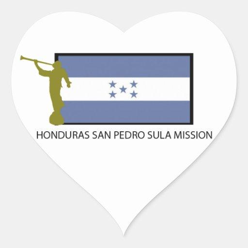 CTR DA MISSÃO LDS DE HONDURAS SAN PEDRO SULA ADESIVO EM FORMA DE CORAÇÃO