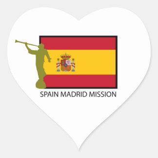 CTR DA MISSÃO LDS DE MADRID DA ESPANHA ADESIVO CORAÇÃO