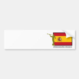 CTR DA MISSÃO LDS DE MADRID DA ESPANHA ADESIVO PARA CARRO
