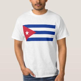 CU da bandeira de Cuba T-shirt