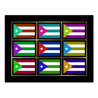 Cuba Multihue embandeira o cartão