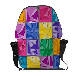 Cubism da cor 3d bolsa mensageiro
