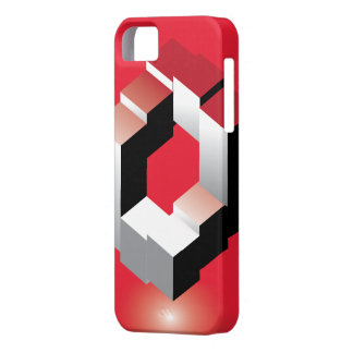 Cubo clássico vermelho mim capa de telefone