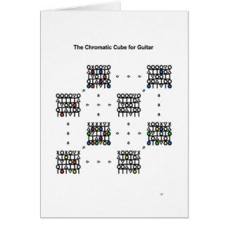 Cubo cromático para a guitarra - o cartão de ano