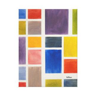 cubo da cor impressão em tela canvas