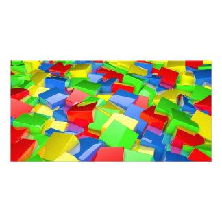 cubos da cor cartão com foto