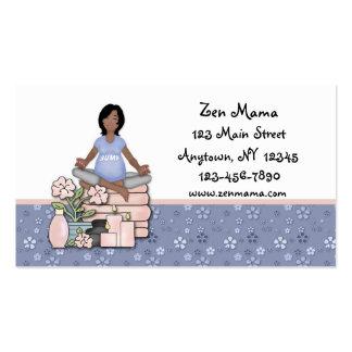 Cuidado de maternidade cartão de visita