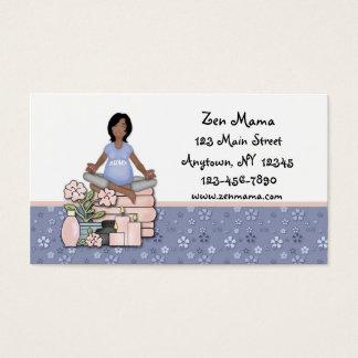 Cuidado de maternidade cartão de visitas