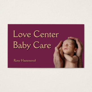 Cuidado do bebê cartão de visitas