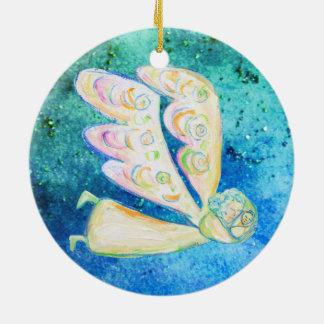Cuidado do ornamento do anjo da neve