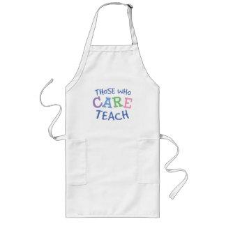 Cuidado dos professores avental longo