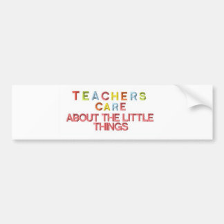 Cuidado dos professores sobre coisas pequenas adesivo