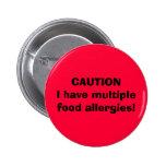CUIDADO eu tenho alergias de comida múltiplas! Boton