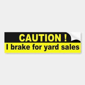 Cuidado, eu travo para vendas de jardim adesivo para carro