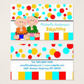 Cuidado & loja do bebê cartão de visitas