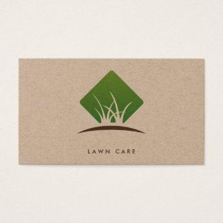 Cuidado moderno do gramado/ajardinar o logotipo da cartão de visitas