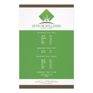 Cuidado moderno do gramado/insecto ajardinar flyer 13.97 x 21.59cm