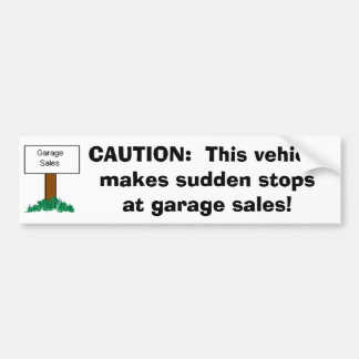 CUIDADO: O veículo faz paradas repentinas na venda Adesivo Para Carro