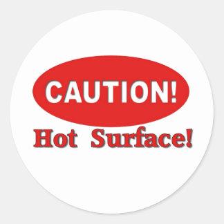 Cuidado! - Superfície quente Adesivo